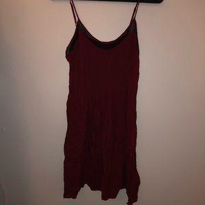 Forever 21 burgundy and back dress